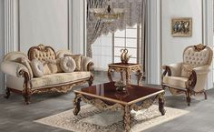 Sidelya classic sofa set was produced with natural wood by hand, new season sofa set collection so comfortable and stylish. Classic Furniture, Furniture Styles, Sofa Furniture, Sofa Set Designs, Sofa Design, Turkish Furniture, Italian Furniture, Country Sofas, Dining Room Suites