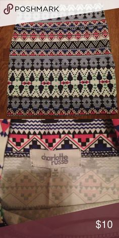 Skirt Charlotte Russe Aztec Bodycon skirt. Size M. No tags, never been worn. Charlotte Russe Skirts Mini