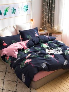 Duvet Covers for Any Bedroom Decor Girl Bedroom Designs, Girls Bedroom, Bedroom Decor, Dream Rooms, Dream Bedroom, Draps Design, Tropical Bedrooms, Luxury Bedding Sets, Queen Bedding Sets