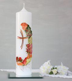 Hochzeitskerze mit 3D Dekor Brautkerze mit roten von Kreatiwita