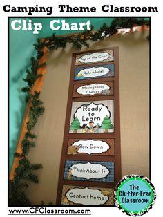 CAMPING THEMED CLASSROOM, free ideas, photos, tips, bulletin board…