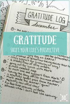 Shift your life's perspective with one simple exercise: A daily gratitude log