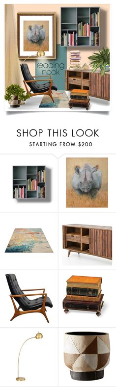 """""""Reading nook"""" by canisartstudio ❤ liked on Polyvore featuring interior, interiors, interior design, home, home decor, interior decorating, Bunn, Possini Euro Design, Nook and modern"""