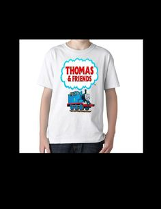 Boys Thomas The Train t shirt  XS 4/5 new Birthday Gift #Handmade #Everyday