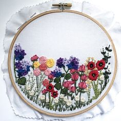 Printable // Flower Hand-Embroidery Pattern DIY embroidery