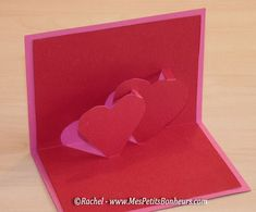 carte pop up coeurs