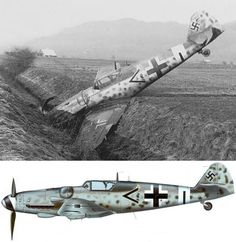 "During an attempt to land in Switzerland, Siegfried HENNING of Stab III./JG 3 crashed his Messerschmitt Bf 109 G-14 (W.Nr. 262818) in a water ditch near Affeltrangen, Thurgau, on 17 December 1944. THe plane was incorporated into Fl.Kp. (Fligerkompanie) 7, Flugwaffe (Swiss Air Force) as ""J-714"""