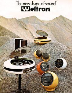 Yes, please! - - - - - retro_futurism: Weltron advertisement, 1970s