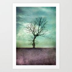 ATMOSPHERIC+TREE+I+Art+Print+by+VIAINA+-+$19.99