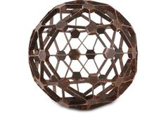 """$59 8"""" Dodecahedron Orb, Rust"""