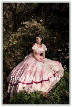 Light pink/dark pink southern bell dress                                                                                                                                                     More