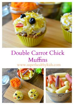 Double carrot chick muffins!! Our feathers= More carrots!!
