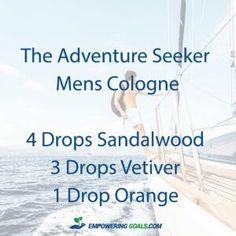 5 essential oil cologne blends for men 5 essential oil cologne blends for men. Ditch the chemical cologne and try these blends of essential oils in a roller bottle for men.
