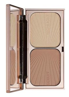 Slim, sculpt, shorten or highlight your features with this Charlotte Tilbury 'Filmstar Bronze and Glow' palette.