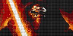 Kylo Ren Portrait LEGO Mosaic 30 in x 15 in by CreativeSquareStudio