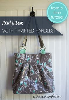 Show Off Saturday: A New Purse from Thrifted Handles! — SewCanShe   Free Daily Sewing Tutorials