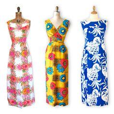 clothes from hawaii for women | Traditional Floral Hawaiian Print Maxi – $68 / Mod Style Hawaiian ...