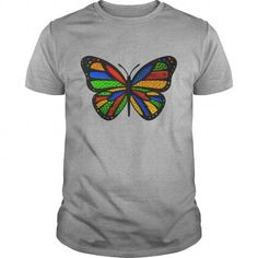 I Love Stained Glass Butterfly TShirts T-Shirt