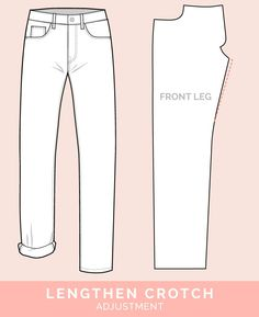 Bow Legged Adjustment // 12 common jeans and pants adjustments // Closet Case Files Sewing Jeans, Sewing Clothes, Doll Clothes, Techniques Couture, Sewing Techniques, Sewing Blogs, Sewing Hacks, Clothing Patterns, Sewing Patterns