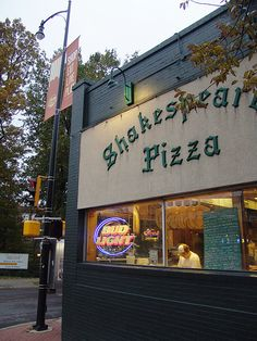 Shakespeare's Pizza, Columbia, Missouri. Have you had a piece today?