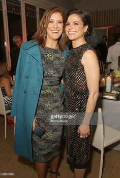 Actors Kate Walsh (L) and Lana Parrilla attend ELLE's Annual Women in Television Dinner Presented by Hearts on Fire Diamonds and Olay at Sunset Tower on January 2016 in West Hollywood, California. Addison Montgomery, Kate Walsh, Greys Anatomy Cast, Middle Aged Women, Ellen Pompeo, Swan Queen, How I Met Your Mother, Fire Heart, Badass Women