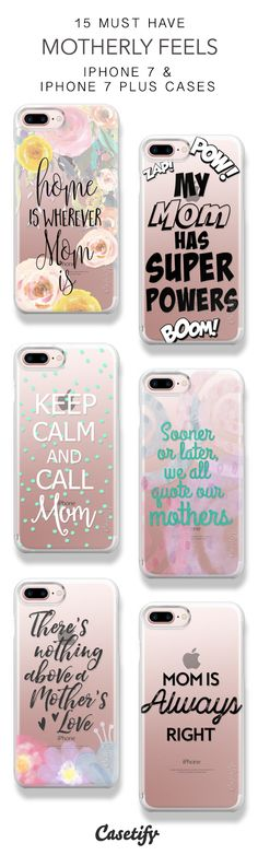 15 Must Have Motherly Feels Protective iPhone 7 Cases and iPhone 7 Plus Cases. More Mom iPhone case here > https://www.casetify.com/collections/top_100_designs#/?vc=6A89RuZk9Z