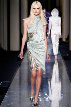 Atelier Versace | Spring/Summer 2014 Couture Collection | Modeled by Anmari Botha | January 19, 2014; Paris