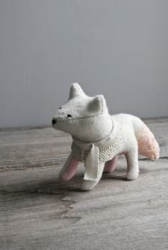 stitched wool fox by everyeskimo on etsy