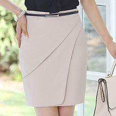 Mujeres Twill delgado falda (cinturón no está incluido) – EUR € 21.36