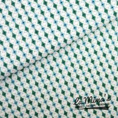 Cotton + Steel - Facets Blue/Green