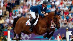 Olivier Guillon of France riding Lord de Theize competes in the Individual Jumping Equestrian on Day 12 of the London 2012 Olympic Games at Greenwich Park  /Photo/sport/General/01/38/49/341olivier-guillon-france-riding-lord-theize-competes-the-individual-jumping-equestrian-13849341384934  Related tags