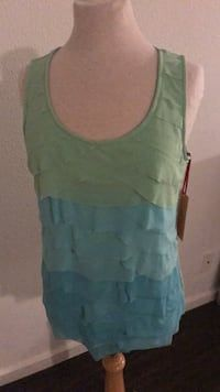 f45e311a9e Used Ruby Rd Aqua Green Mermaid Sleeveless Top Sz Medium / Large NWT for  sale in. letgo