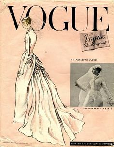 Vogue Paris Original 1331, Fath bridal gown (1956)