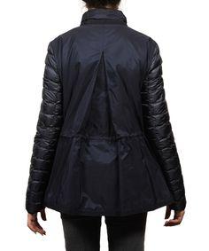 Moncler Moncler Grenouille Flyaway Puffer Coat Jacket Navy Women's
