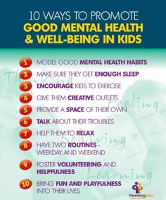 Promoting kids' mental health