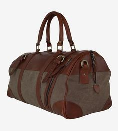 f75b6c6194 Charlie Waxed Canvas   Leather Duffel Bag