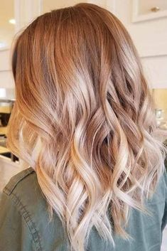 Copper Strawberry Blonde Ombre Fade – Welcome My World Ombre Hair Natural, Brown Ombre Hair, Brown Blonde Hair, Ombre Hair Color, Copper Blonde Hair Color, Hair Colors, Medium Blonde Hair, Blonde Hair Looks, Balayage Hair Blonde