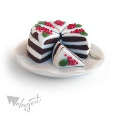 Red Currant Polymer Clay Cake by weggart, via Flickr
