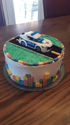 Lego police birthday cake Lego police birthday cake My son loves legos, and for months he was asking for a lego birthday cake so for his birthday he got one! Police Birthday Cakes, Police Cakes, Funny Birthday Cakes, Superhero Birthday Cake, Novelty Birthday Cakes, Lego Birthday Party, 3rd Birthday, Birthday Ideas, Birthday Parties