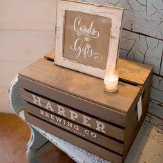 CUSTOM beer crate wedding card box gift box by DARLINGandPEARL