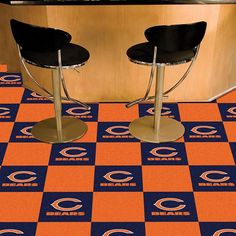 Fanmats Chicago Bears Blue and Carpet Tiles