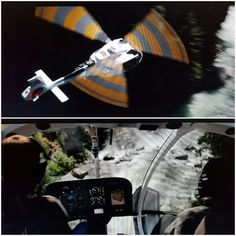 The helicopter crash scene