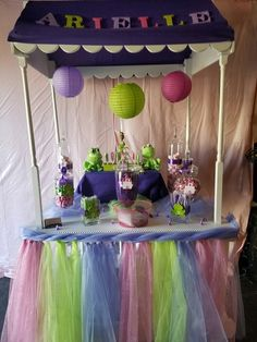 Princess and the Frog Baby shower candy buffet