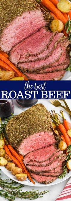 Top Round Roast Beef Recipe - ƒσσ∂ - This Top Round Roast Beef Recipe is so easy to throw together, and so juicy delicious. With only about 10 minutes hands on time it makes for an amazing meal that is fit for any holiday! Crockpot Top Round Roast, Deli Roast Beef Recipe, Roast Recipes, Cooking Recipes, Recipe For Top Round Roast, Roast Beef On Bbq, Beef Round Tip Roast, Roast Beef Dinner, Recipes Dinner