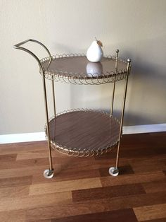 Mid Century Bar Cart Rolling Cart Tea Cart by GirlGoesVintage