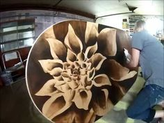 Wood Stain Art – Dahlia Dining Table – Reality Daydream