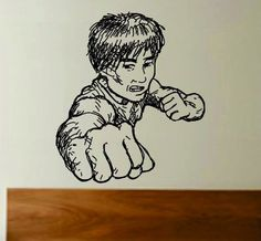 Kung Fu Master Decal Sticker Wall Boy Girl Teen by PerfectPeacocks, $24.00