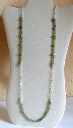 Green Apatite Necklace with Sterling Silver, Statteam - pinned by pin4etsy.com