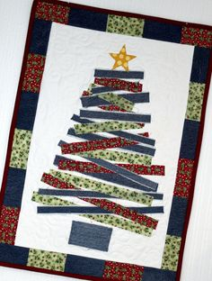 PDF DOWNLOAD Jean Christmas Tree Wall Hanging by InventiveDenim
