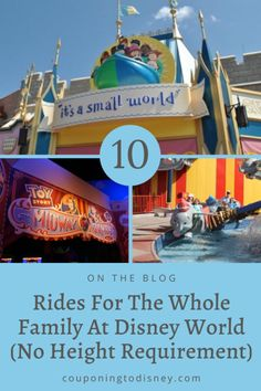 10 Rides For The Whole Family At Disney World (No Height Requirement) Disney World Vacation Planning, Walt Disney World Vacations, Cruise Vacation, Disney Cruise, Disney World Rides, Disney World Parks, Disney Tickets, Boat Tours, Hollywood Studios